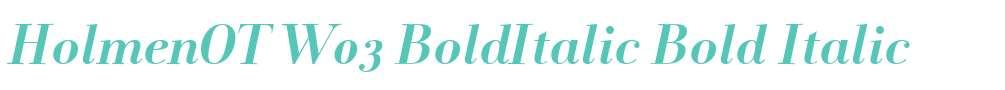 HolmenOT W03 BoldItalic