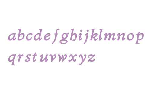 Bergsland W01 Heavy Italic