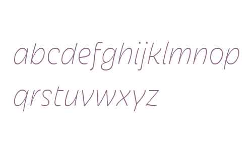 Iskra W01 Thin Italic