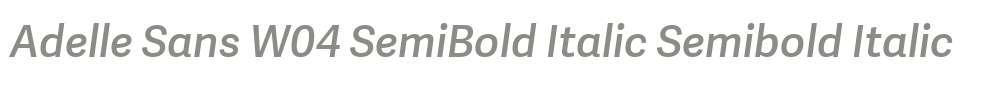 Adelle Sans W04 SemiBold Italic