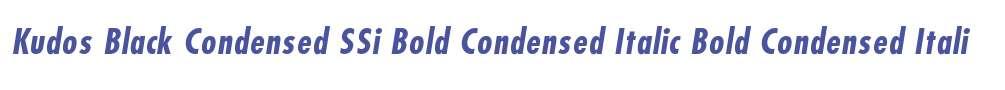 Kudos Black Condensed SSi Bold Condensed Italic