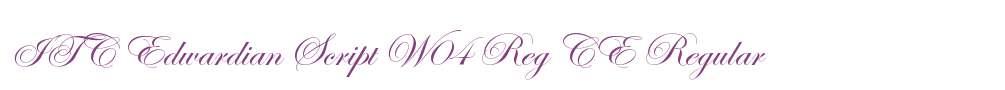 ITC Edwardian Script W04 Reg
