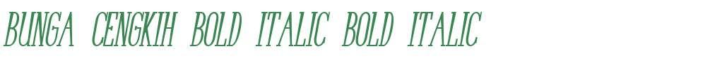 Bunga Cengkih Bold Italic