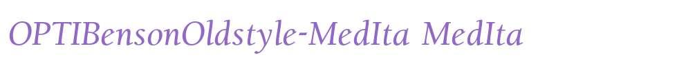 OPTIBensonOldstyle-MedIta