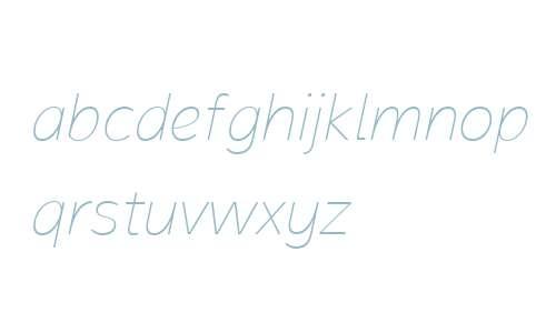 Magnum Sans W01 Thin Italic V1
