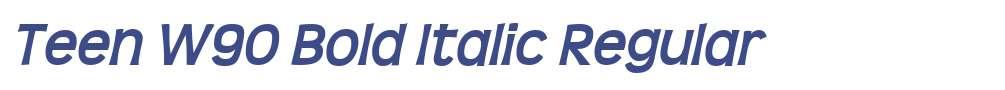 Teen W90 Bold Italic