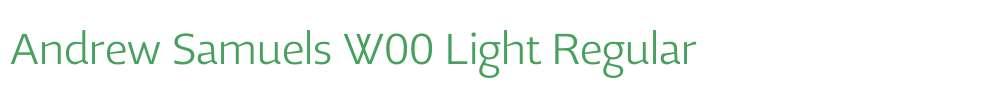 Andrew Samuels W00 Light