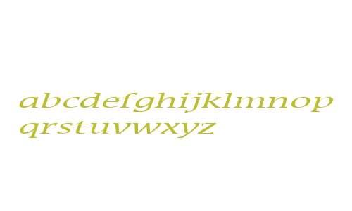 Mirror Extended Italic