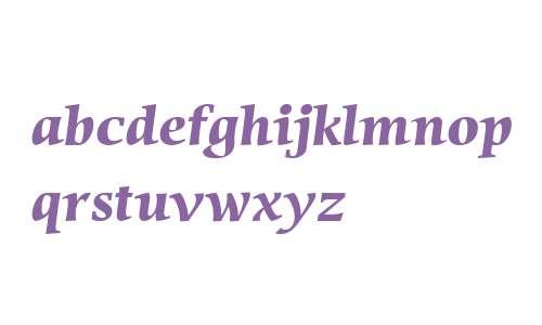 Sierra W04 Bold Italic