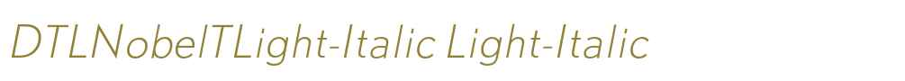 DTLNobelTLight-Italic