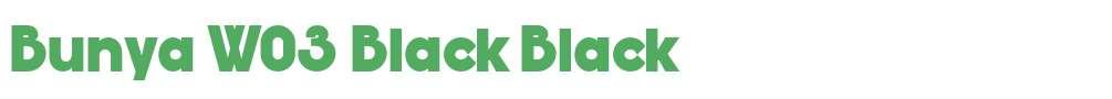 Bunya W03 Black