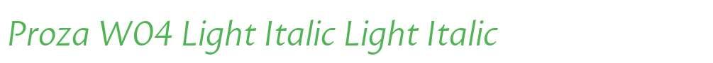 Proza W04 Light Italic