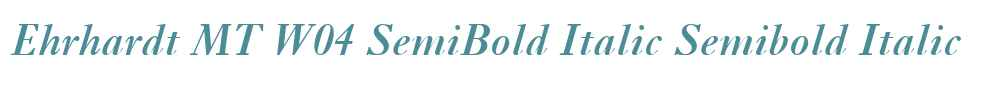 Ehrhardt MT W04 SemiBold Italic