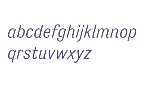 Tenso W00 Light Italic