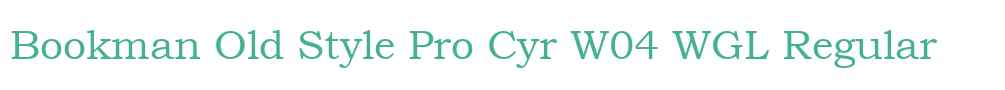 Bookman Old Style Pro Cyr W04