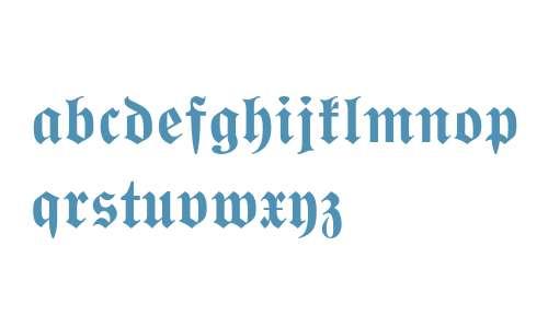 Wittenberger Fraktur MT Std Bold