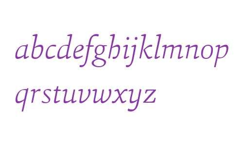 Sina W04 ExtraLight Italic