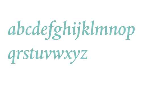 Albertina MT Std Medium Italic