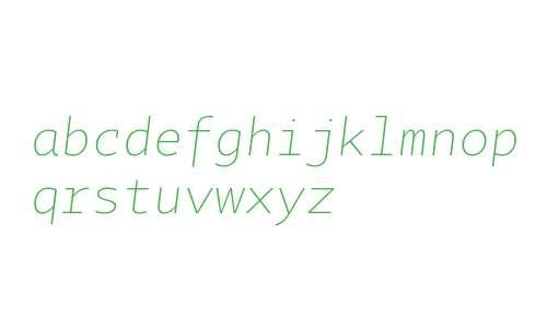 Tabac Mono Thin Italic