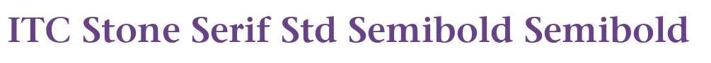 ITC Stone Serif Std Semibold