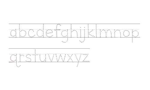 Letters for Learners Lined Dots