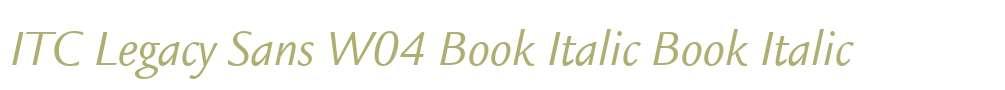 ITC Legacy Sans W04 Book Italic