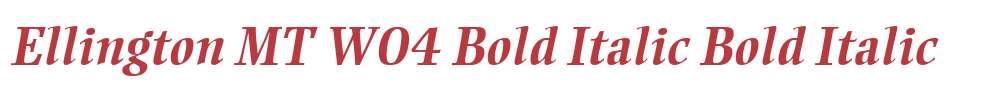 Ellington MT W04 Bold Italic