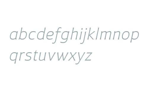 Plathorn W01 Ext Light Italic