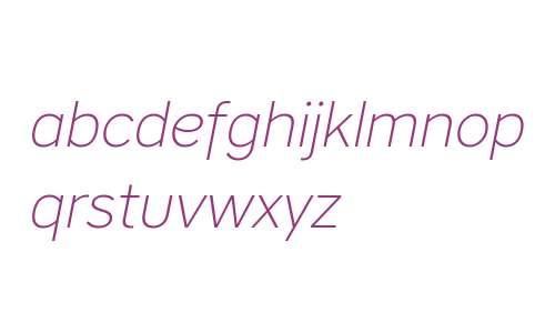 CoreSansA25ExtraLight-Italic