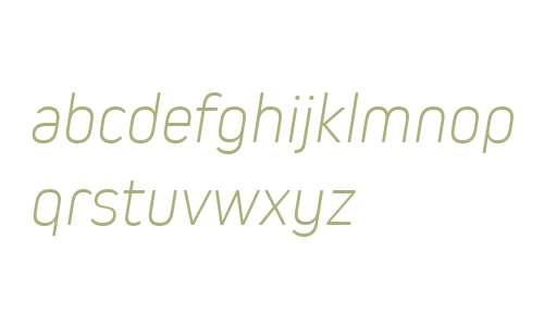 Kiro W01 ExtraLight Italic