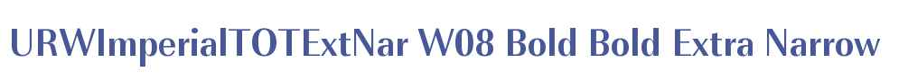 URWImperialTOTExtNar W08 Bold