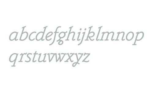 Belwe Mono Std Italic
