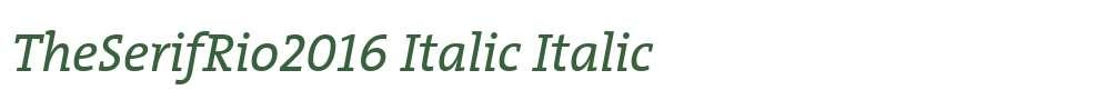 TheSerifRio2016 Italic