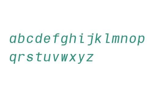 Sequencia Mono W00 Italic
