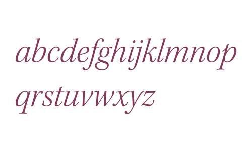 Kepler Std Light Italic Subhead