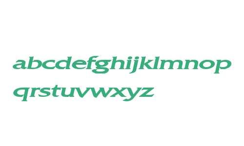 Franco Extended Bold Italic