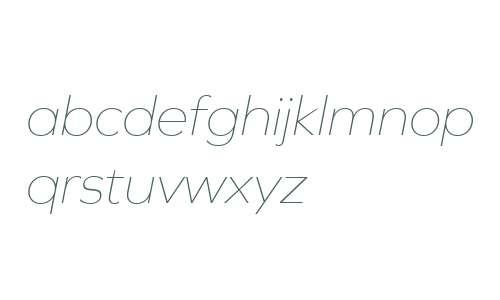 Graphie W03 Thin Italic