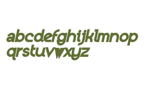 Kerater W00 ExtraBlack Italic