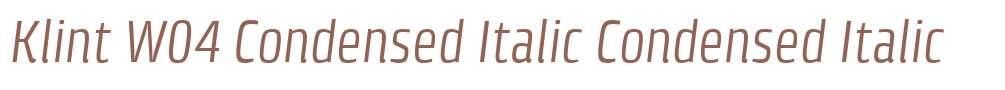 Klint W04 Condensed Italic