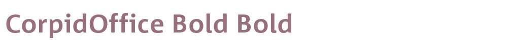 CorpidOffice Bold