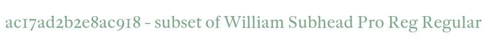 ac17ad2b2e8ac918 - subset of William Subhead Pro Reg