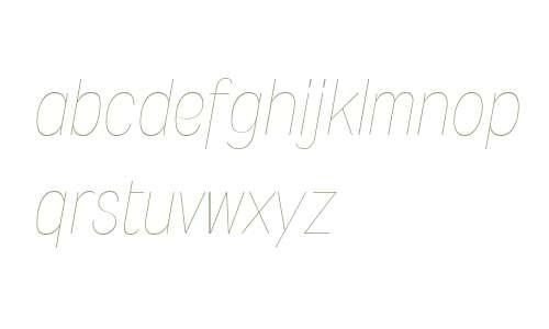 Wyvern W00 UltraLight Italic