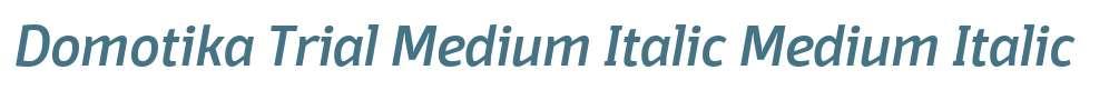 Domotika Trial Medium Italic