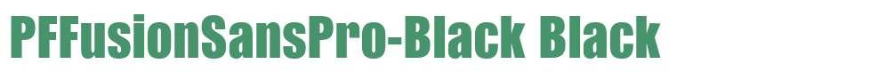 PFFusionSansPro-Black