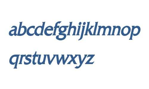 Franco Condensed Bold Italic