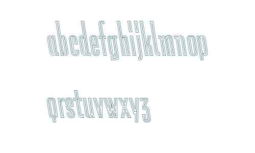 Lichtspiele Neon Outline Contra Italic