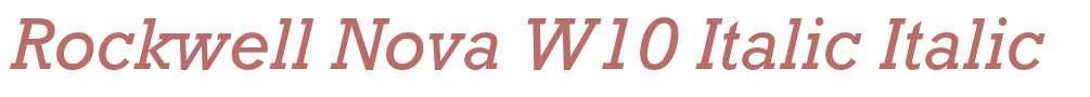 Rockwell Nova W10 Italic