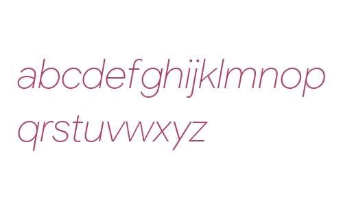 Product Sans Thin Italic