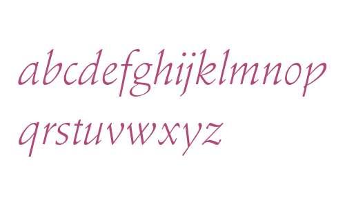 Stempel Schneidler Std Light Italic