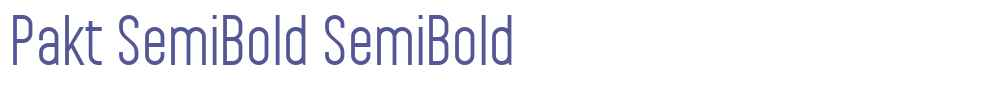 Pakt SemiBold